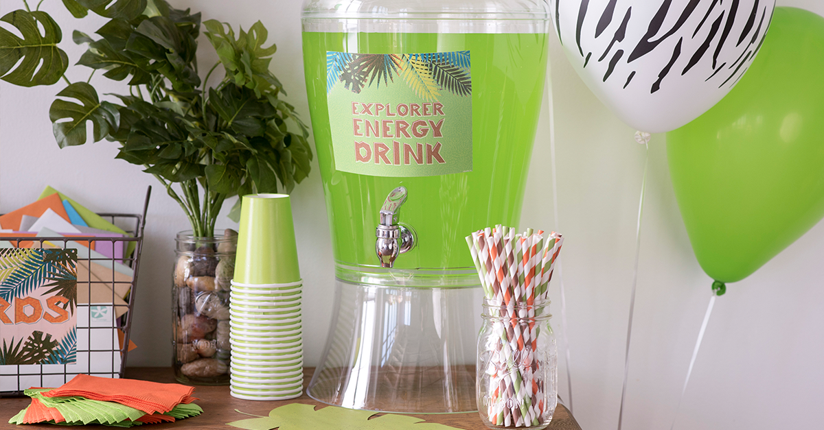beverage dispenser for jungle party