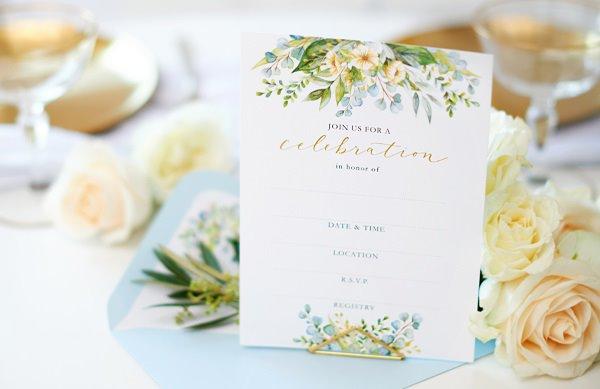 Eucalyptus Bridal Invitation