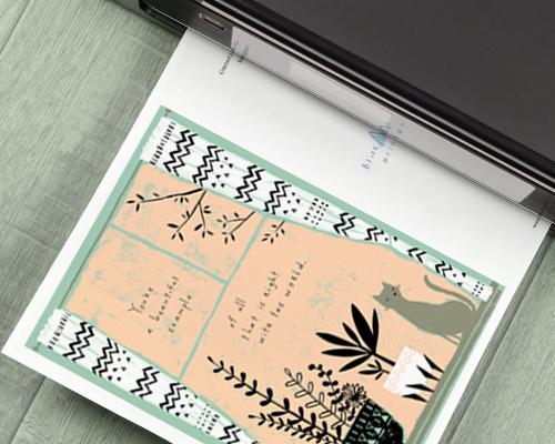 printable card with colorful birthday cake