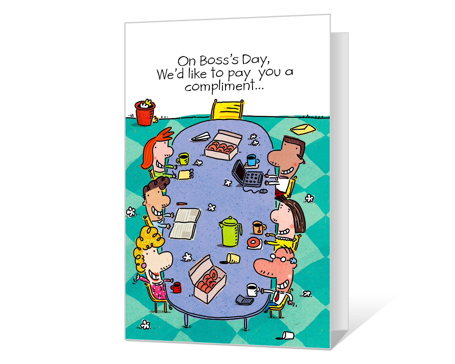 It's just a picture of Free Printable Boss's Day Cards regarding bosss