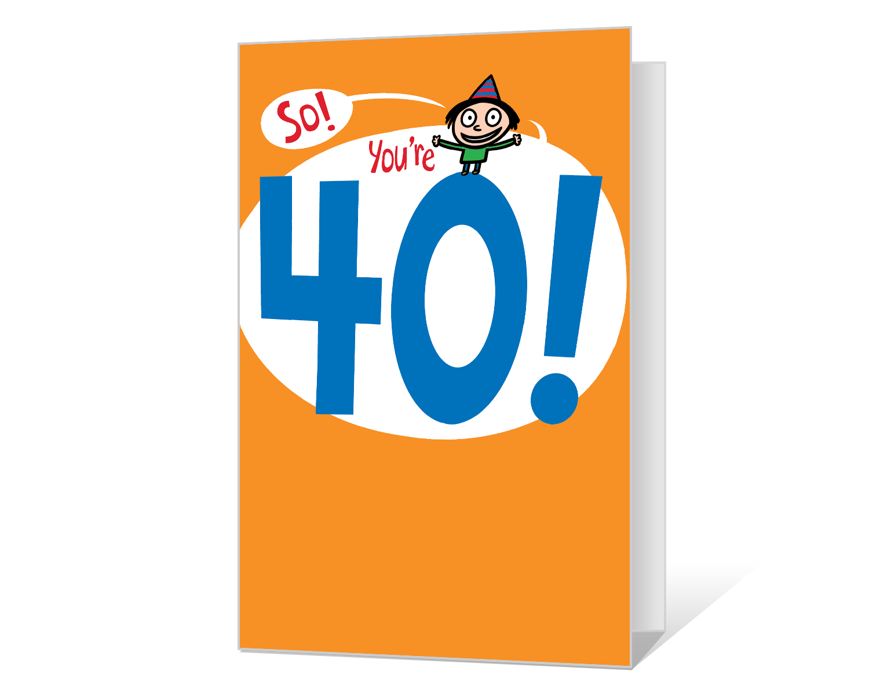40th Birthday Printable American Greetings