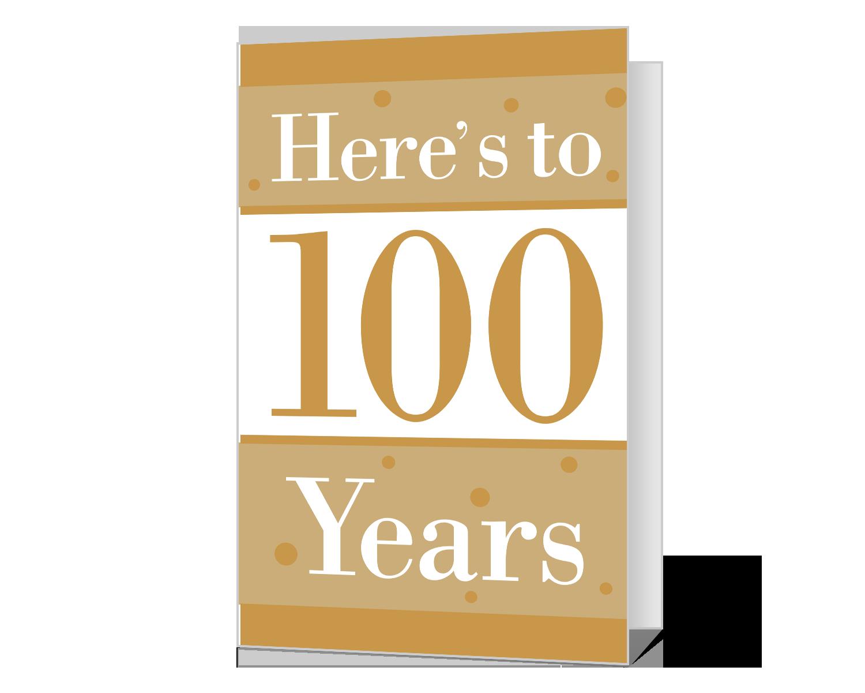 100th Birthday Printable American Greetings