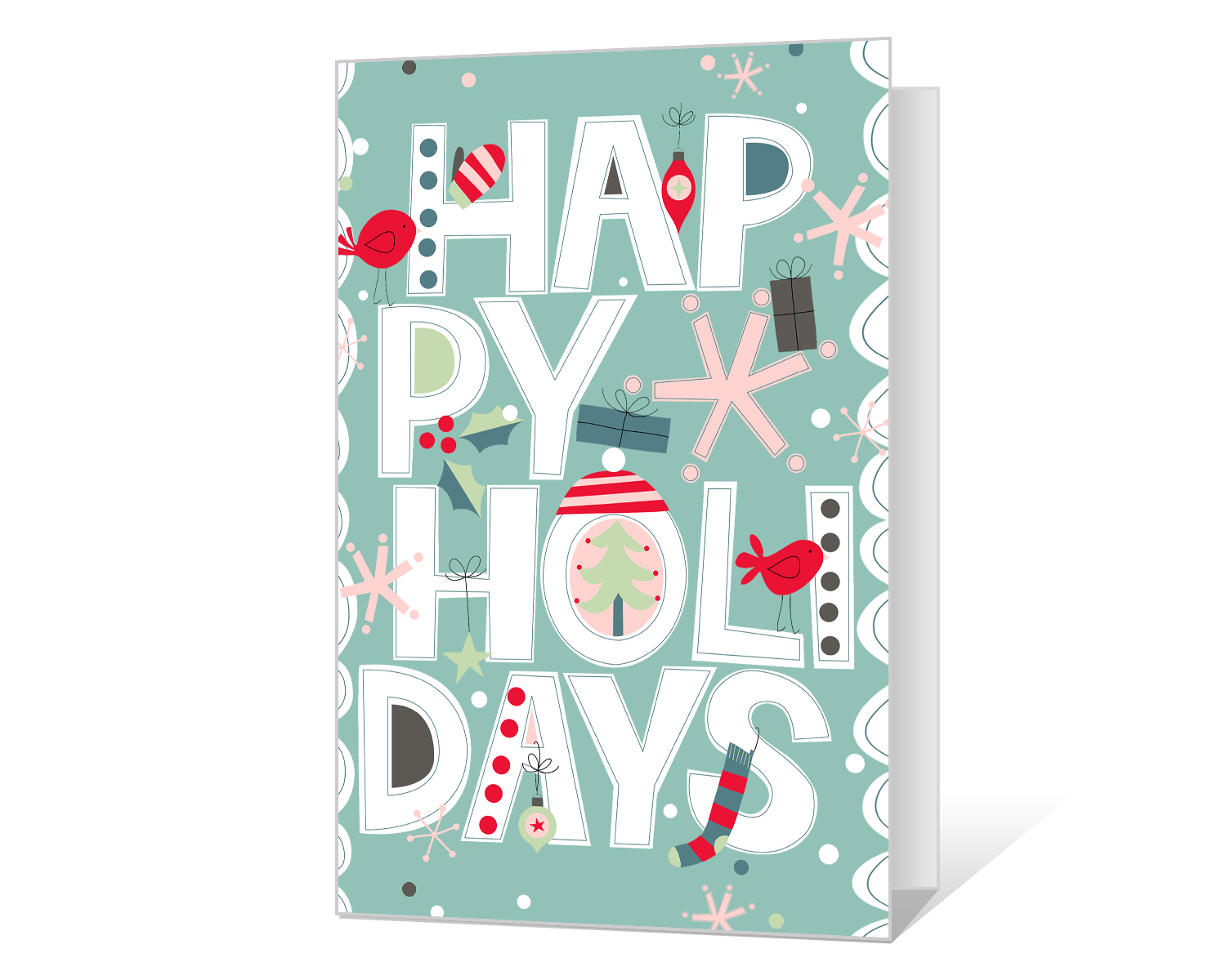 graphic about Happy Holidays Printable Card known as Delighted Vacations Printable - American Greetings